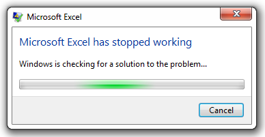 Excel crashes when enabling macros – Purple Frog Systems
