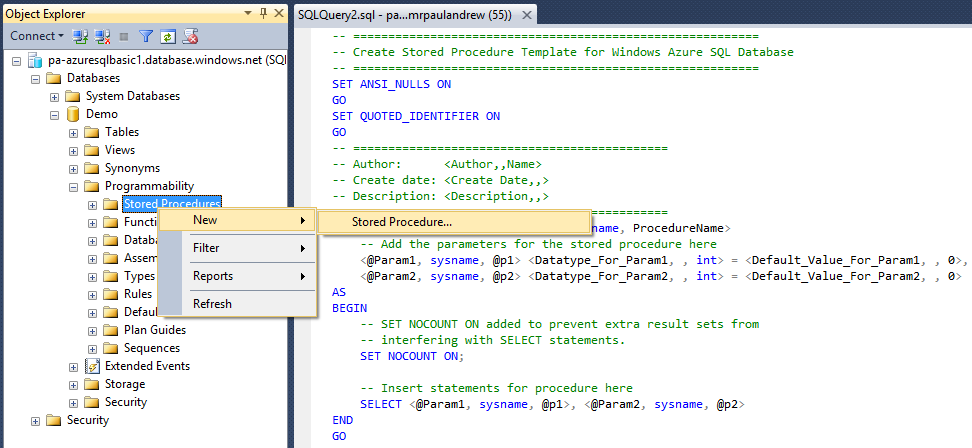 Sql Server Management Studio Code Snippets Paul S Frog Blog