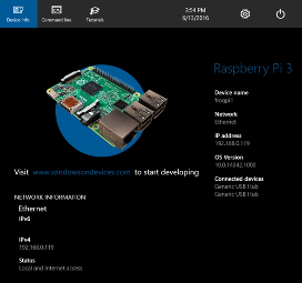 Controlling Your Windows 10 IoT Core Device – Paul's Frog